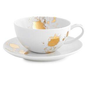 Jonathan Adler 1948 2-Piece Porcelain Tea Cup & Saucer Set